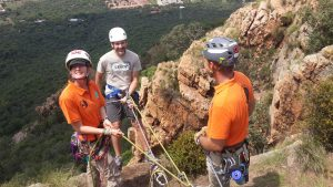 abseiling at harties